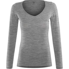 Icebreaker Siren Langærmet T-shirt Damer, gritstone hthr